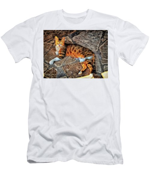 Men's T-Shirt (Athletic Fit) featuring the photograph Tiger Tiger Burning Bright by Leigh Kemp