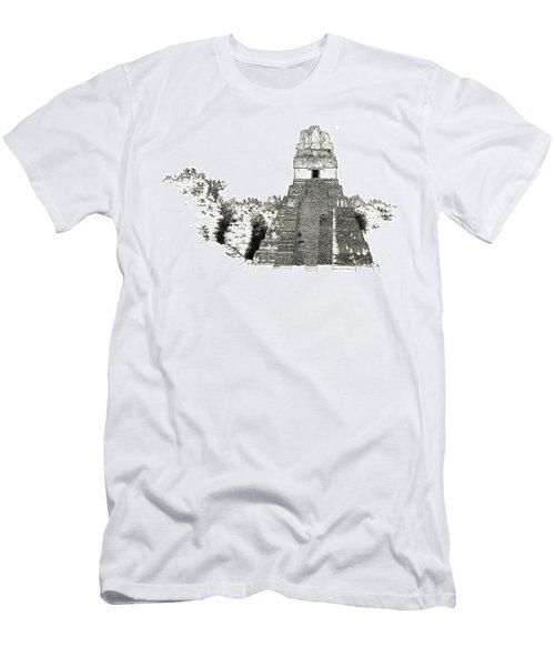 Tikal Temple I Men's T-Shirt (Athletic Fit)