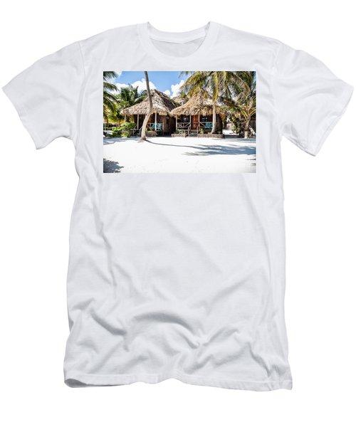 Tiki Huts Men's T-Shirt (Athletic Fit)