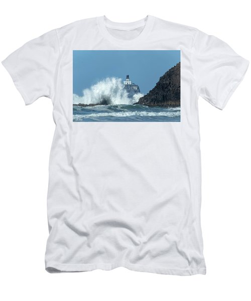Tillamook Rock Light House, Oregon - Terrible Tilly Men's T-Shirt (Athletic Fit)