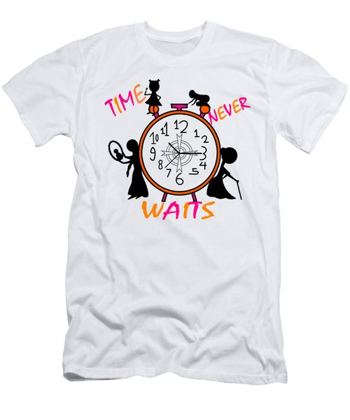 Time Never Waits Men's T-Shirt (Athletic Fit)