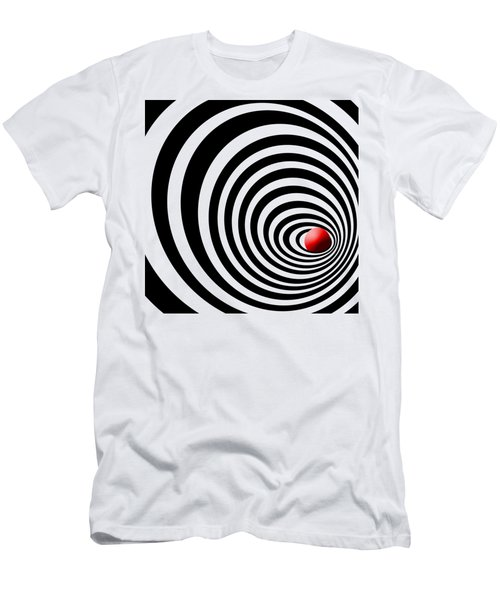 Time Tunnel Op Art Men's T-Shirt (Slim Fit) by Methune Hively