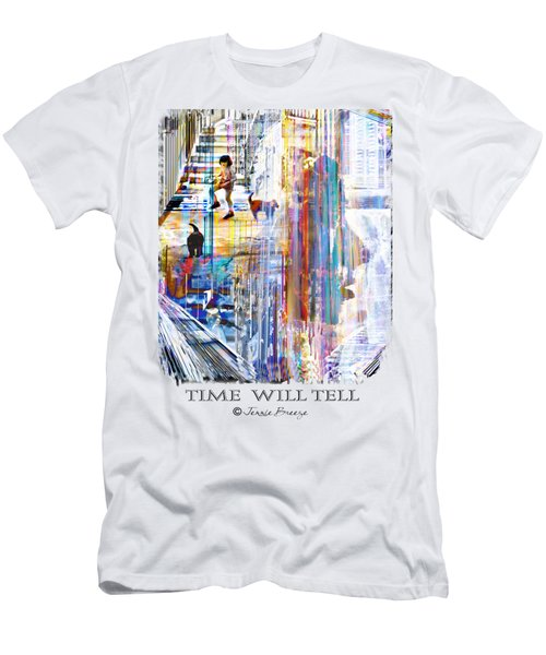 Time Will Tell Men's T-Shirt (Slim Fit) by Jennie Breeze
