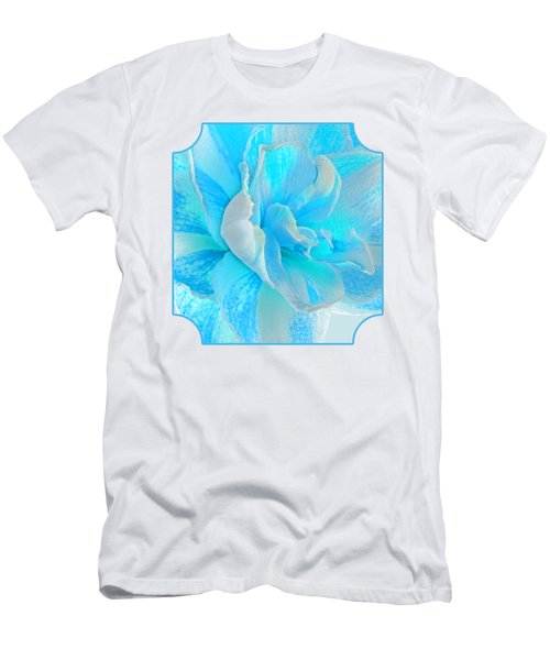 Timeless Beauty In Blue Men's T-Shirt (Athletic Fit)