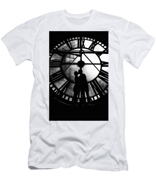 Men's T-Shirt (Athletic Fit) featuring the photograph Timeless Love - Black And White by Marianna Mills