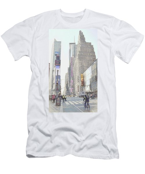 Times Square Street Scene Men's T-Shirt (Slim Fit) by Dyle Warren