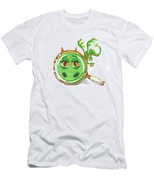 Men's T-Shirt (Athletic Fit) featuring the painting Tiny Teeny Little Dragon by Irina Sztukowski