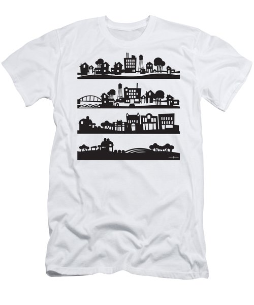 Tinytown Stacked Men's T-Shirt (Athletic Fit)