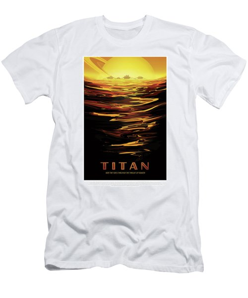 Titan - Ride The Tides Through The Throat Of Kraken - Vintage Na Men's T-Shirt (Athletic Fit)