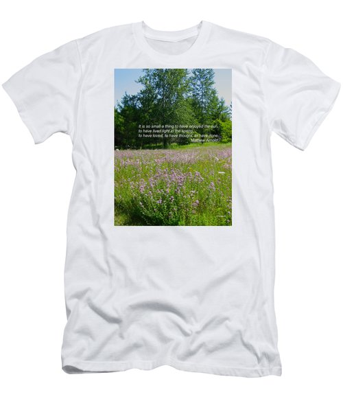 To Live Light In The Spring Men's T-Shirt (Slim Fit) by Deborah Dendler