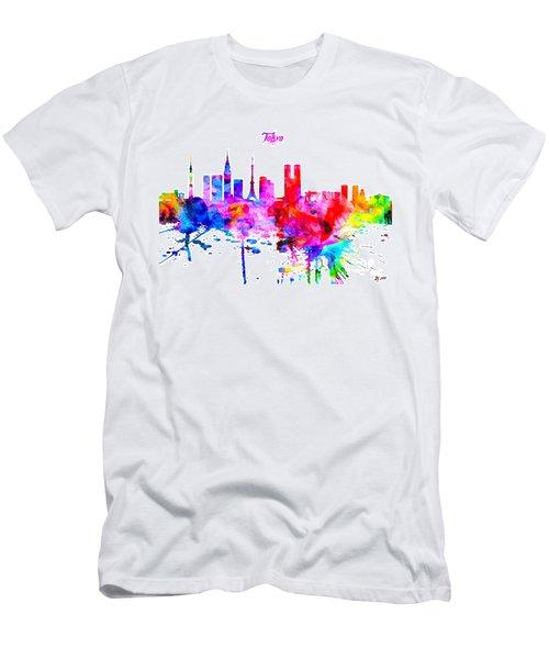 Tokyo Colorful Skyline Men's T-Shirt (Athletic Fit)