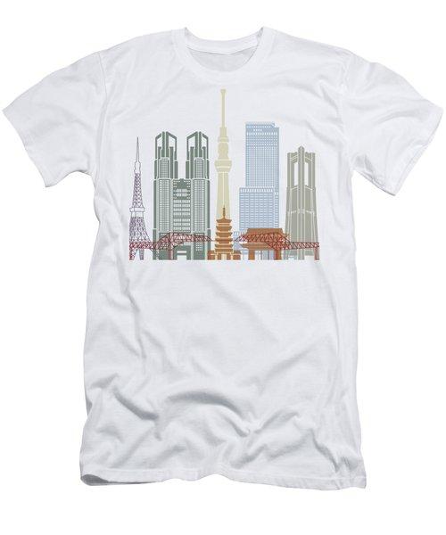 Tokyo V2 Skyline Poster Men's T-Shirt (Athletic Fit)