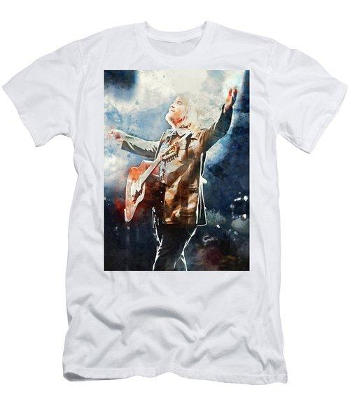Tom Petty - Watercolor Portrait 13 Men's T-Shirt (Athletic Fit)