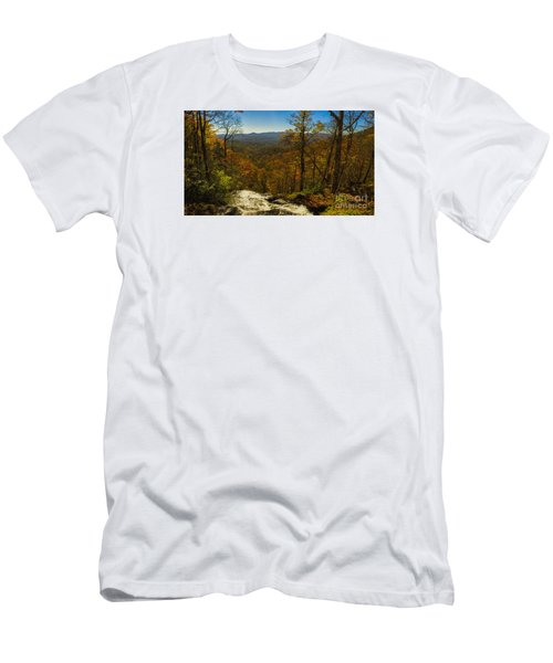 Men's T-Shirt (Slim Fit) featuring the photograph Top Of Amicola Falls by Barbara Bowen