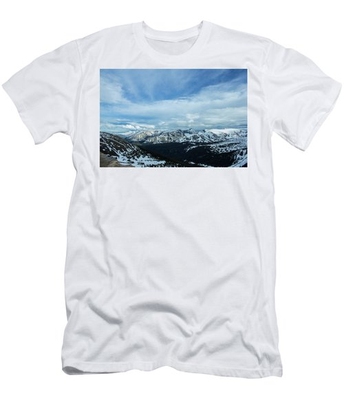 Men's T-Shirt (Athletic Fit) featuring the photograph Top Of The Rockies by Tyson Kinnison