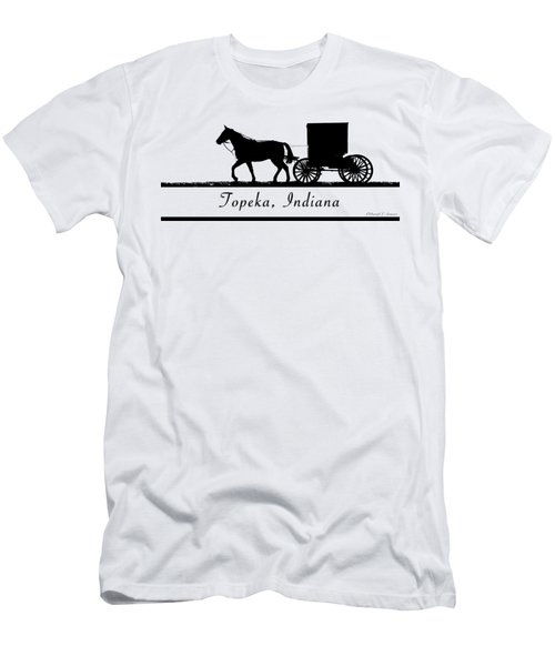Topeka Indiana T-shirt Design Men's T-Shirt (Athletic Fit)
