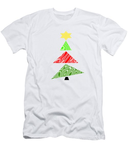 Topsy Turvy Christmas Tree Men's T-Shirt (Slim Fit)