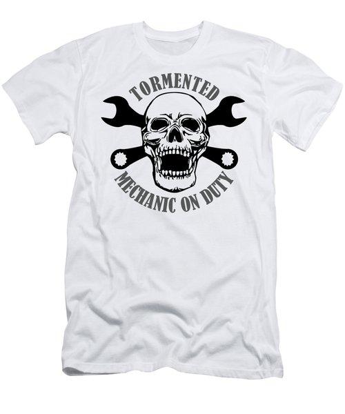 Tormented Mechanic Men's T-Shirt (Athletic Fit)