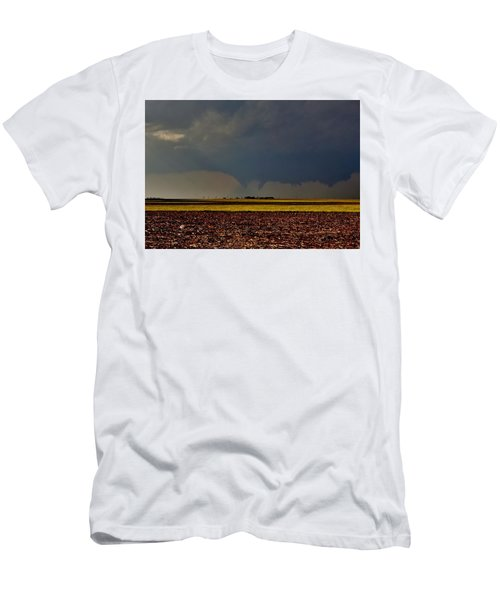 Men's T-Shirt (Athletic Fit) featuring the photograph Tornadoes Across The Fields by Ed Sweeney