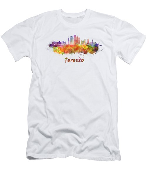 Toronto V2 Skyline In Watercolor Men's T-Shirt (Athletic Fit)