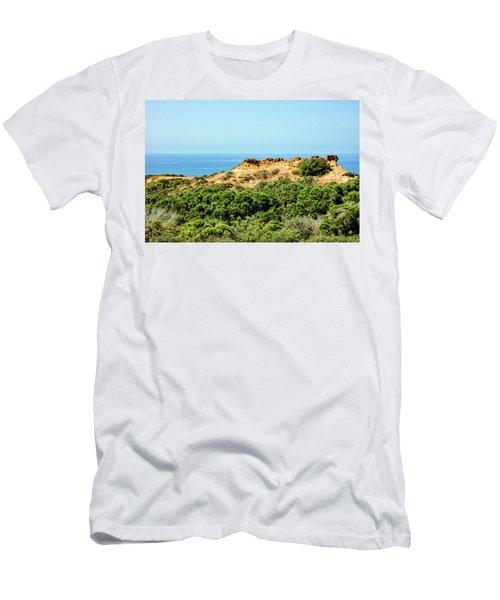 Torrey Pines California - Chaparral On The Coastal Cliffs Men's T-Shirt (Athletic Fit)