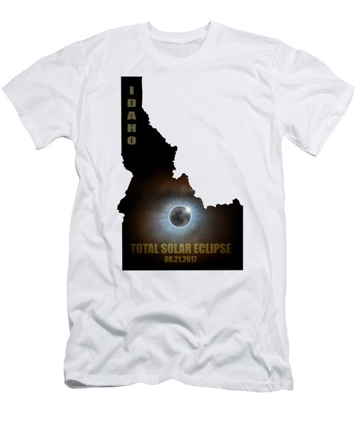 Total Solar Eclipse In Idaho Map Outline Men's T-Shirt (Athletic Fit)