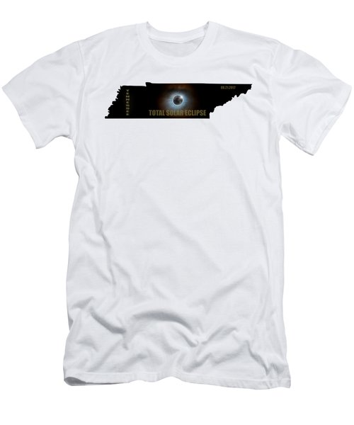 Total Solar Eclipse In Tennessee Map Outline Men's T-Shirt (Athletic Fit)