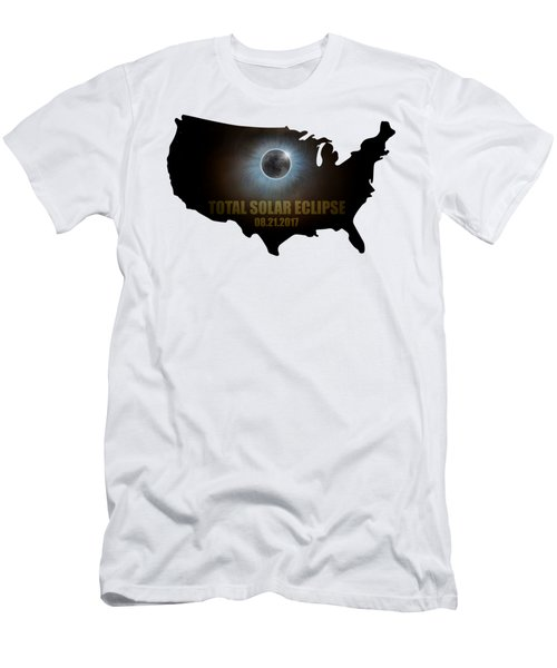 Total Solar Eclipse In United States Map Outline Men's T-Shirt (Athletic Fit)