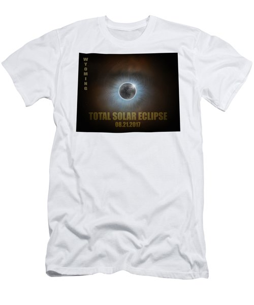 Total Solar Eclipse In Wyoming Map Outline Men's T-Shirt (Athletic Fit)