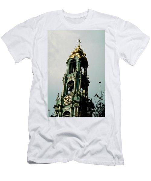 Tower Trinity Lavra Of St. Sergius Sergiev Posad Zagorsk Men's T-Shirt (Slim Fit) by Wernher Krutein