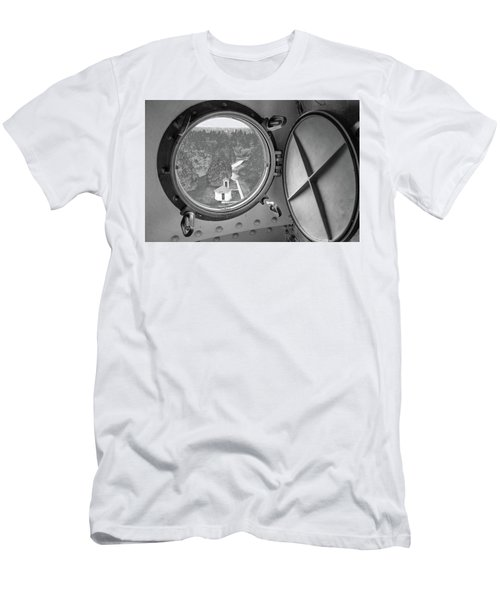 Men's T-Shirt (Slim Fit) featuring the photograph Tower View by Janice Adomeit