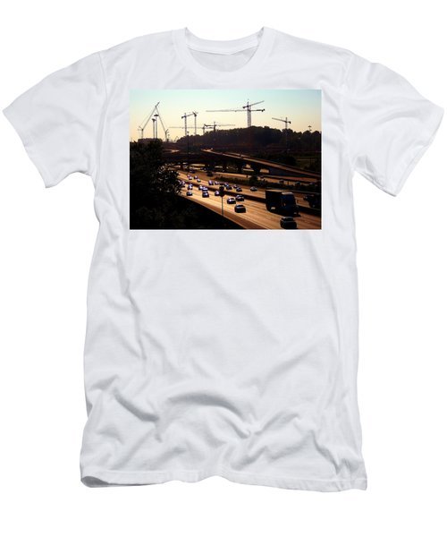Traffic And Cranes Men's T-Shirt (Athletic Fit)