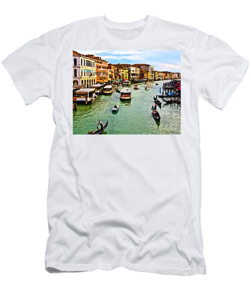 Traghetto, Vaporetto, Gondola  Men's T-Shirt (Athletic Fit)