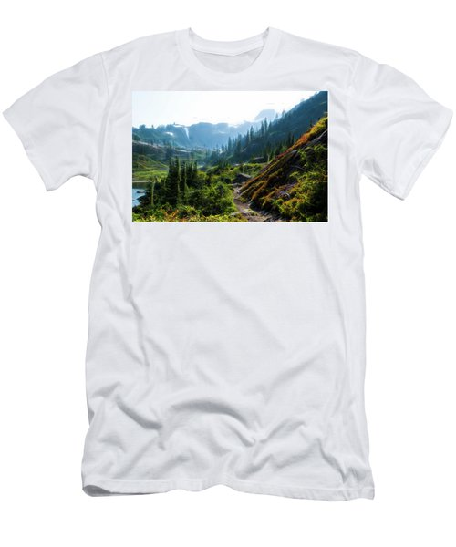 Trail In Mountains Men's T-Shirt (Athletic Fit)