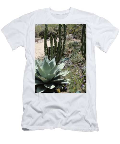 Trail Of Cactus Men's T-Shirt (Athletic Fit)
