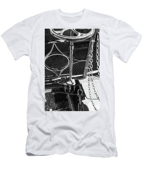 Men's T-Shirt (Athletic Fit) featuring the photograph Train Car Connections by Colleen Coccia
