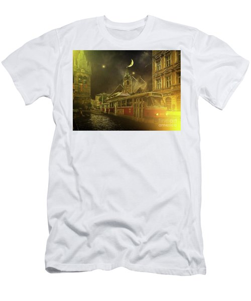 Tramatic - Prague Street Scene Men's T-Shirt (Athletic Fit)