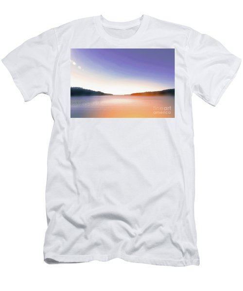 Tranquil Afternoon At The Lake Men's T-Shirt (Athletic Fit)