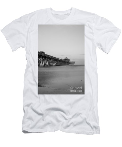 Tranquility At Folly Grayscale Men's T-Shirt (Athletic Fit)