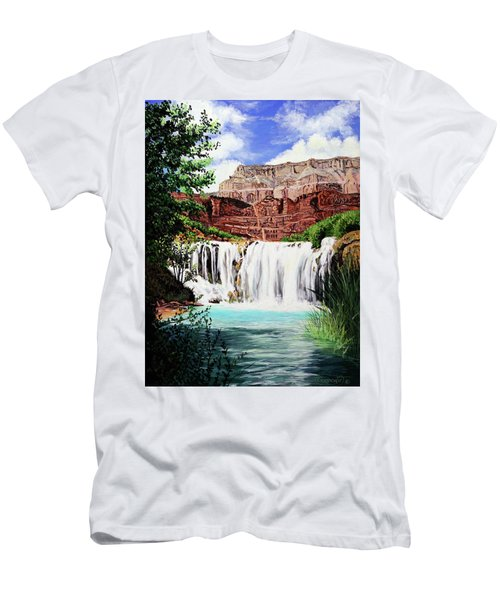 Tranquility In The Canyon Men's T-Shirt (Athletic Fit)