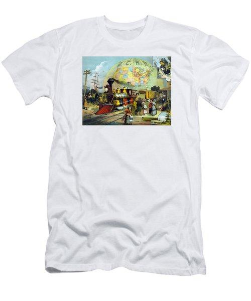 Transcontinental Railroad Men's T-Shirt (Athletic Fit)