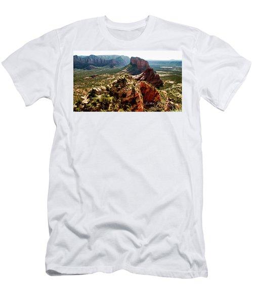 Transept Mountains 04-089 Men's T-Shirt (Slim Fit) by Scott McAllister