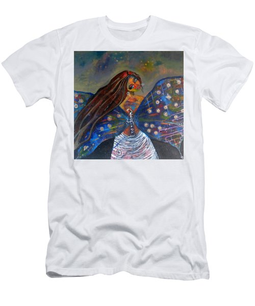 Men's T-Shirt (Slim Fit) featuring the painting Transform by Prerna Poojara