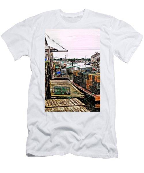 Traps Portland Maine Men's T-Shirt (Slim Fit) by Tom Prendergast