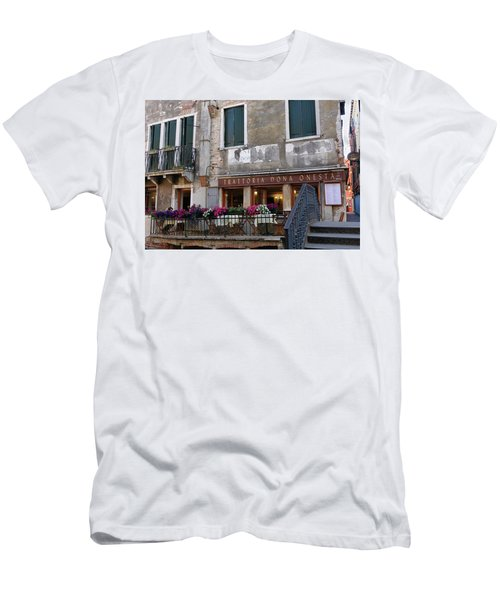 Trattoria Dona Onesta In Venice, Italy Men's T-Shirt (Athletic Fit)