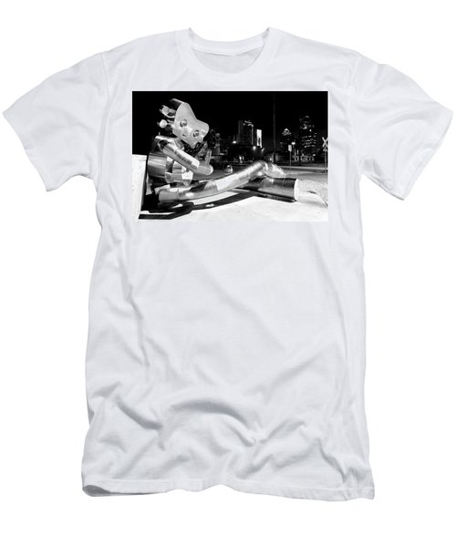 Waiting On The Train 8916 Bw Men's T-Shirt (Athletic Fit)