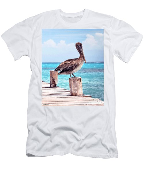 Treasure Coast Pelican Pier Seascape C1 Men's T-Shirt (Athletic Fit)