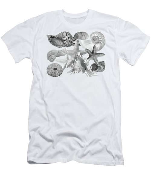 Treasures Of The Deep In Mono On White Men's T-Shirt (Athletic Fit)