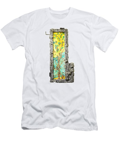 Tree And Stump Inside A Window Men's T-Shirt (Athletic Fit)