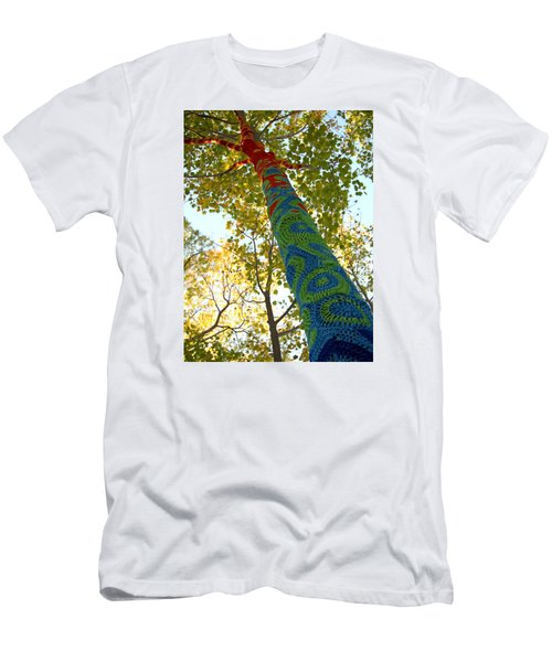 Tree Crochet Men's T-Shirt (Athletic Fit)